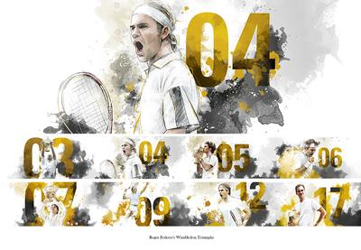 Patryk Jaracz - Federer Triumph animated illustration stills